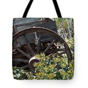 Wheels In The Garden Tote Bag by Glenn McCarthy Art and Photography
