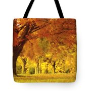 When Autumn Leaves Fall Tote Bag