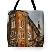 When I Was A Stranger You Welcomed Me Tote Bag