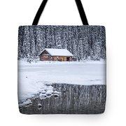 When It Snows Outside Tote Bag