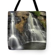 When Light And Water Falls-1a Blackwater Falls State Park Wv Autumn Mid-morning Tote Bag
