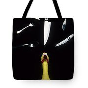 When Rubber Chickens Juggle Tote Bag