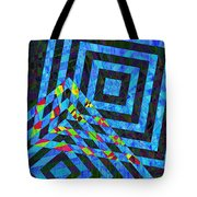 When Squares Merge Blue Tote Bag
