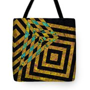 When Squares Merge Yellow Tote Bag