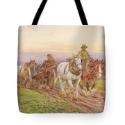 When The Days Work Is Done Tote Bag by Charles James Adams