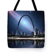 When The Galaxy Came To St. Louis Tote Bag