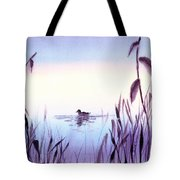 When The Sky Melts With Water A Peaceful Pond Tote Bag