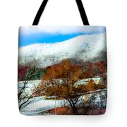 When Winter Blankets Autumn Tote Bag