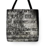 Where Dark Storms Rise Tote Bag