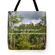 Where Does My Help Come From Tote Bag