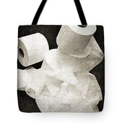 Where Is My Spare Roll Bw V1 Tote Bag