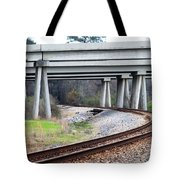 Where Old And New Cross Paths Tote Bag