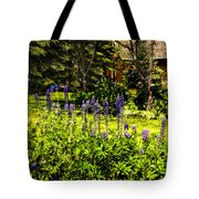 Where The Lupines Grow Tote Bag