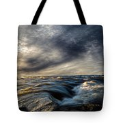 Where The River Kisses The Sea Tote Bag