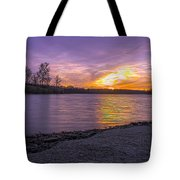 Where The Road Ends Tote Bag