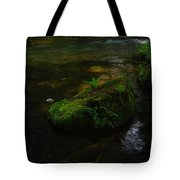Where The Water Is As Slow As Tranquility Tote Bag