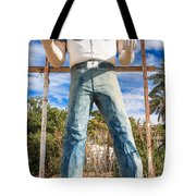 Whered It Go Muffler Man Statue Tote Bag