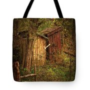Which Way To The Outhouse? Tote Bag by Priscilla Burgers