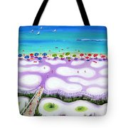 Whimsical Beach Umbrellas - Seashore Tote Bag