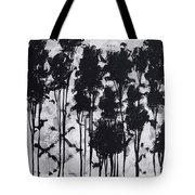 Whimsical Black And White Landscape Original Painting Decorative Contemporary Art By Madart Studios Tote Bag