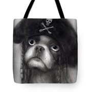 Whimsical Funny French Bulldog Pirate  Tote Bag