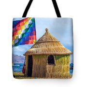 Whiphala Flag On Floating Island Tote Bag