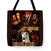 Whippet Art - Pirates Of The Caribbean The Curse Of The Black Pearl Movie Poster Tote Bag