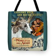 Whippet Art - The World In His Arms Movie Poster Tote Bag