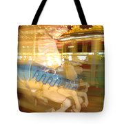 Whirling Carousel Tote Bag