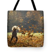 Whirling With Leaves Tote Bag