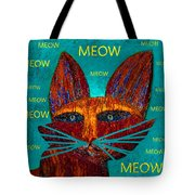 Whiskers Meowing Tote Bag