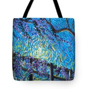 Whisp On A Fence Tote Bag