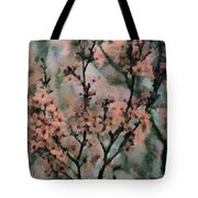 Whispering Cherry Blossoms Tote Bag by Janice MacLellan
