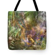 Whispering Waters - Square Version Tote Bag