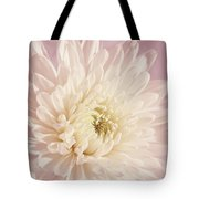 Whispering White Floral Tote Bag