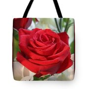 Whispers Of Passion And Love Red Rose Greeting Card  Tote Bag