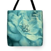Whispers Of Teal Roses Tote Bag