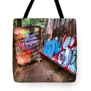 Whistler Train Wreck Covered In Graffiti Tote Bag
