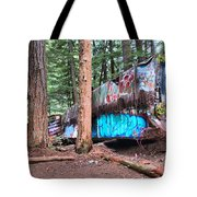 Whistler Train Wreckage Among The Trees Tote Bag