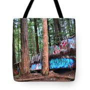 Whistler Train Wreckage In The Trees Tote Bag
