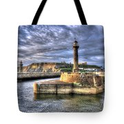 Whitby Harbour On The North Yorkshire Coast Tote Bag