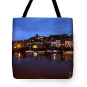 Whitby Lower Harbour At Night Tote Bag