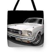 White 1966 Mustang Tote Bag