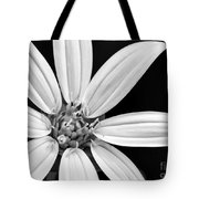 White And Black Flower Close Up Tote Bag