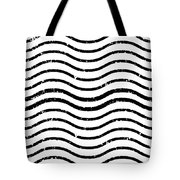 White And Black Postage Tote Bag