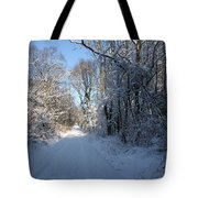 White And Blue Tote Bag