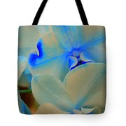 White And Blue Orchid Tote Bag