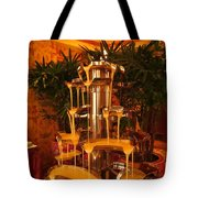 White And Dark Chocolate Fondue Fountain Tote Bag