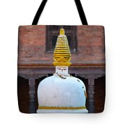 White And Golden Chorten Tote Bag
