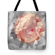 White And Pink Lace Tote Bag